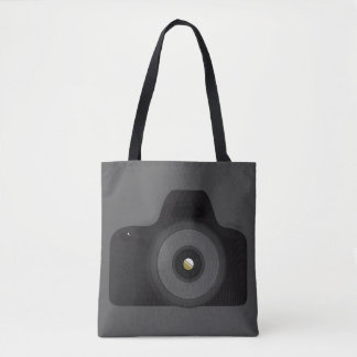 Camera Black SLR Graphic Photography Photo Tote Bag