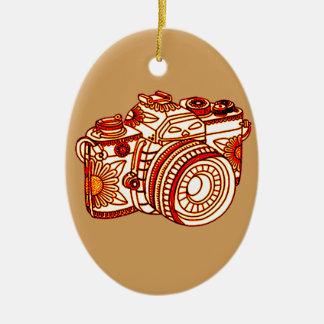 Camera Ceramic Ornament