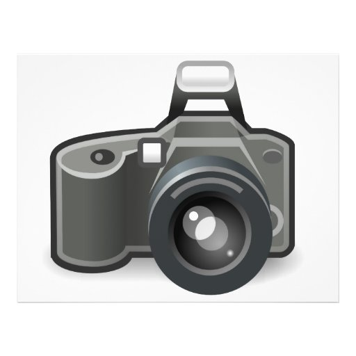 Camera clipart personalized flyer