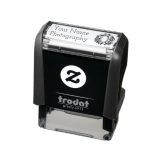 Camera Doodle Photography Business Marketing Self-inking Stamp