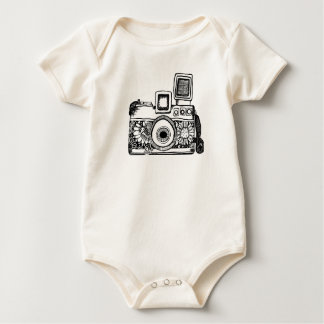 camera drawing Tracet Hill Baby Bodysuit