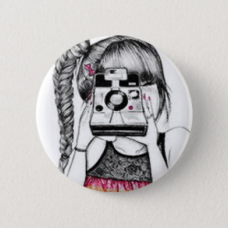 Camera Girl 2 Inch Round Button