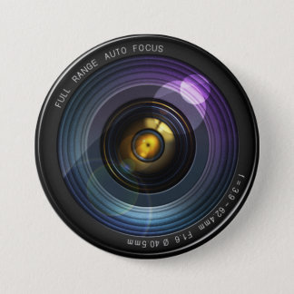 Camera Lens 3 Inch Round Button