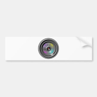 Camera Lens Bumper Sticker