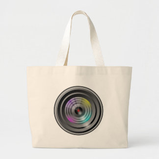Camera Lens Large Tote Bag