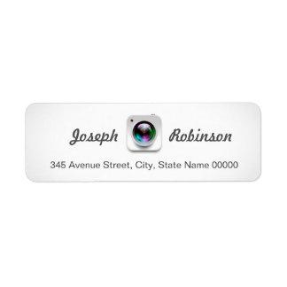 Camera Lens Logo Photography Photographer Return Address Label