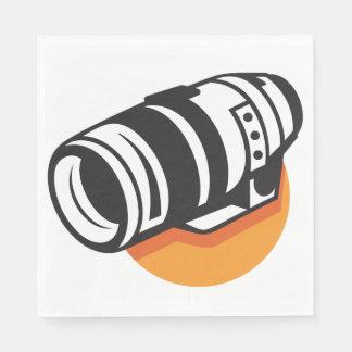 Camera Lens Paper Napkins