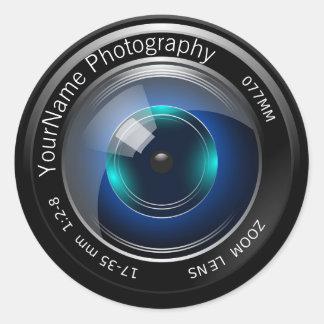 Camera Lens Personalized Classic Round Sticker