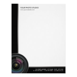 Camera Lens Photographer business letterhead