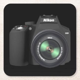 Camera Nikon Square Paper Coaster