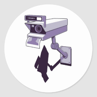 Camera of Security Round Sticker