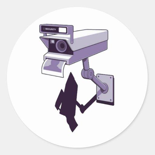 Camera of Security Round Sticker