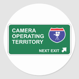Camera Operating Next Exit Classic Round Sticker