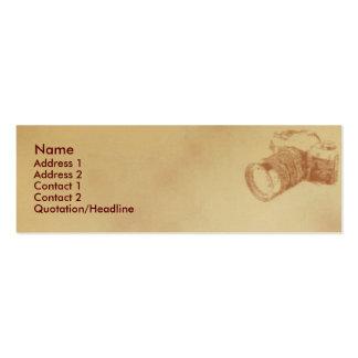 Camera Profile Card Mini Business Card