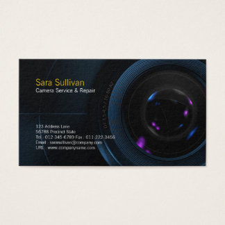 Camera Service & Repair Business Card Camera Lens