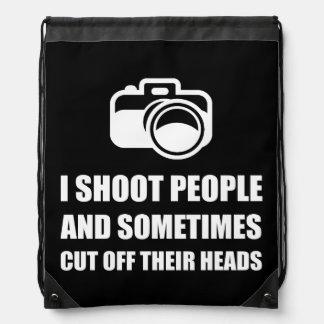 Camera Shoot Cut Head Cinch Bag