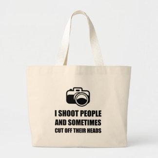 Camera Shoot Cut Head Jumbo Tote Bag