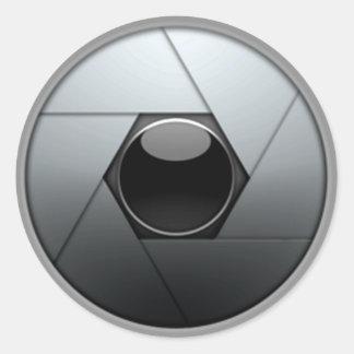 Camera Shutter Round Sticker