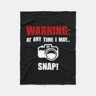 Camera Snap Fleece Blanket
