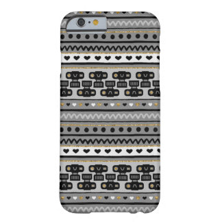 Camera Stripes in Black & Gold Barely There iPhone 6 Case