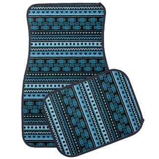 Camera Stripes in Blue Tones Car Mat