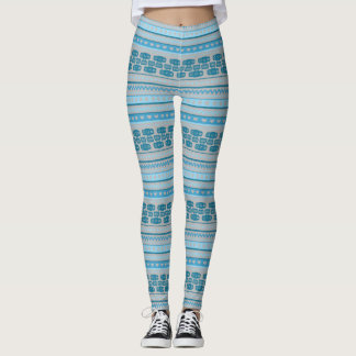 Camera Stripes in Blue Tones Leggings