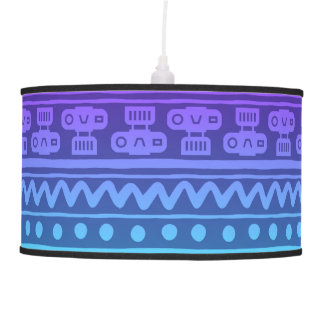 Camera Stripes in Purple & Blue Tones Pendant Lamp