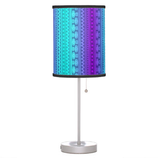 Camera Stripes in Purple & Blue Tones Table Lamp