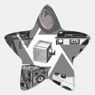 Camera Time Collage Star Sticker