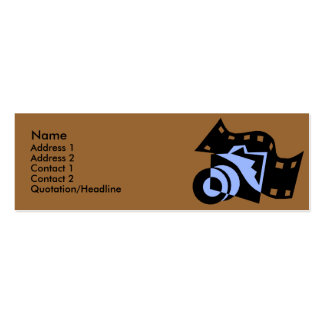Camera with Film Design Profile Cards Business Card Template