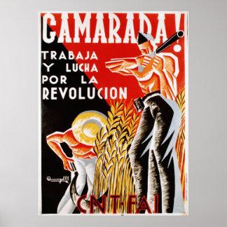 Camerada! cartel [Comrades poster] Poster