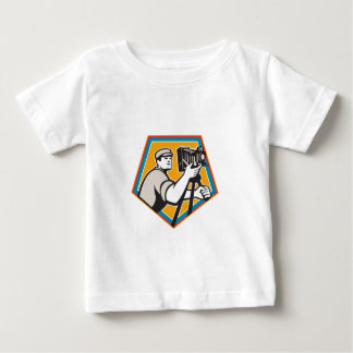 Cameraman Vintage Movie Film Camera Crest Retro Baby T-Shirt