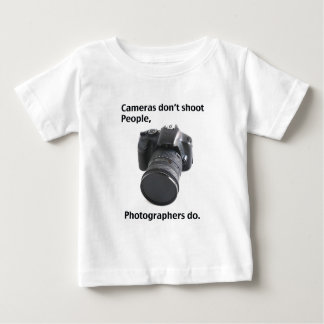 Cameras don't shoot people baby T-Shirt