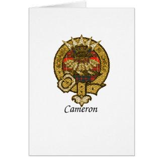 Cameron Clan Crest Card