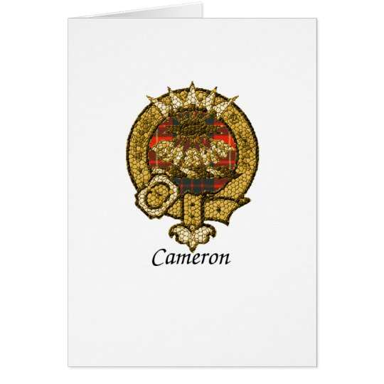 Cameron Clan Crest Card