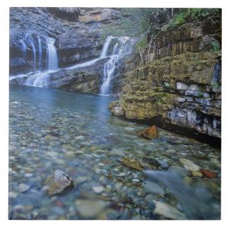 Cameron Falls in Waterton Lakes National Park in 2 Ceramic Tiles