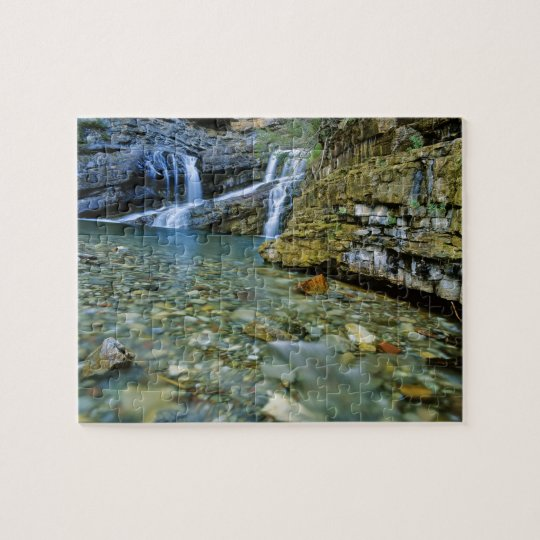Cameron Falls in Waterton Lakes National Park in Jigsaw Puzzle