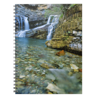 Cameron Falls in Waterton Lakes National Park in Notebook