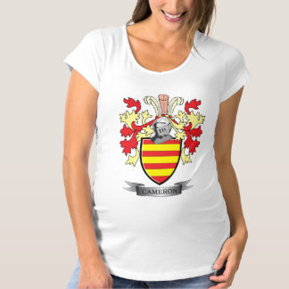 Cameron Family Crest Coat of Arms Maternity T-Shirt
