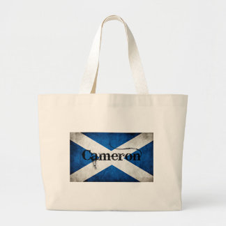 cameron grunge flag large tote bag