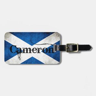 cameron grunge flag luggage tag