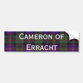 Cameron of Erracht Scottish tartan Bumper Sticker