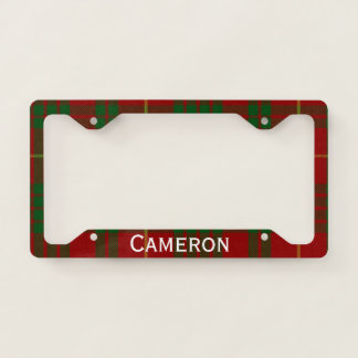 Cameron Tartan Plaid License Plate Frame