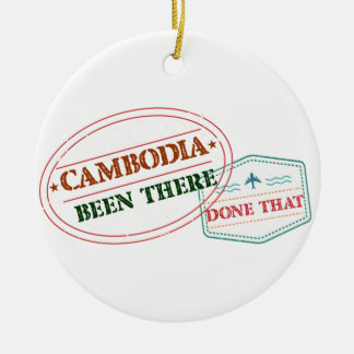Cameroon Been There Done That Round Ceramic Ornament
