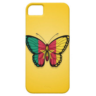 Cameroon Butterfly Flag on Yellow Case For The iPhone 5