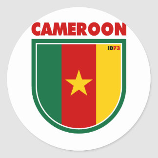 Cameroon Classic Round Sticker