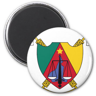 Cameroon Coat Of Arms 2 Inch Round Magnet