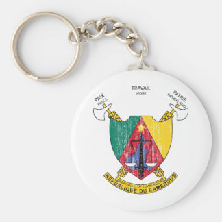 Cameroon Coat Of Arms Basic Round Button Keychain