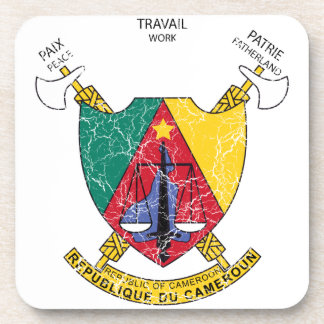 Cameroon Coat Of Arms Drink Coaster