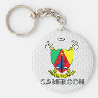 Cameroon Coat of Arms Keychain